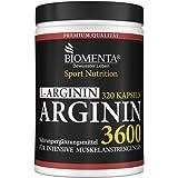 BIOMENTA L-ARGININ 3600 | AKTIONSPREIS!!! | 320 Arginin Kapseln hochdosiert | REINES L-ARGININ HOCHDOSIERT | OHNE Magnesiumstearat | 3.652 mg Arginin Aminosäure pro Tag