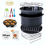 Ptsaying Air Fryer Accessories 10 sets +20 cookbook, air fryer basket baking pan, For Phillips, Gowise Universal XL power...