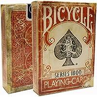 Vintage 1800 Series Bicycle Cards - Red