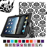 Fintie iPad 1 Folio Case - Slim Fit Vegan Leather Stand Cover with Stylus Holder for Apple iPad 1 1st Generation, Versailles