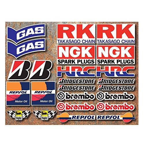 24-adesivi-onekool-con-loghi-motociclette-hrc-gas-rk-ngk-bridgestone-brembo-repsol