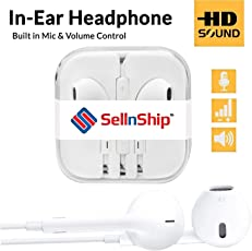 Earphones with Mic for iPhone and All Mobile Phones from SellnShip