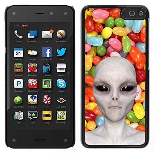 Grand Phone Cases Carcasa Funda Prima Delgada Slim Casa Case Bandera Cover Shell para // Q05510654 Alienígena Caramelo de Color // Amazon Fire Phone
