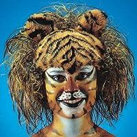 Tiger Perücke für Erwachsene Raubkatze Tier Tierperücke