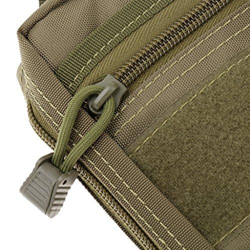 Gazechimp Taktische Molle Zubehörtasche Beutel Im Freien Mehrzweck Werkzeugtasche Grün