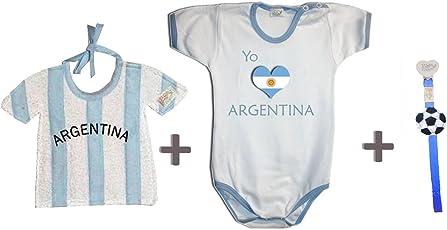 Zigozago–Set WM Argentinien bestehend aus Lätzchen + Body + Schnullerband 74