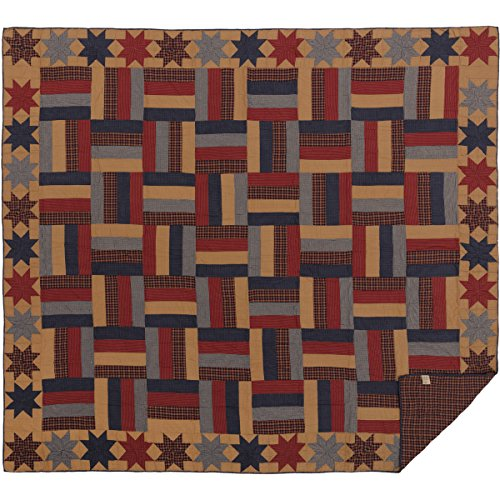 VHC Brands 45608 Quilt, California King, Hellbraun - King Quilt Navy California