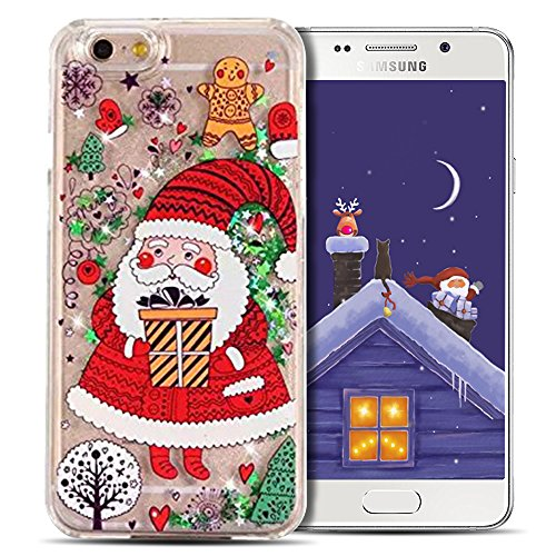 Cover iPhone 7 Case iPhone 8 Custodia Spiritsun Hard PC Christmas Case Cover Bling Bling Case Elegante Flowing Natale Regalo Phone Cover Case Per iPhone 7/8 (4.7 Pollici) - Padre Natale 1 Padre Natale 1