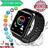 Smartwatch Bluetooth Uhr Sport Smart Watch Armband Sport Uhr Wasserdicht mit Pulsmesser Smart Armband Fitness Tracker Fitness Armband Fitnessuhr Intelligente Uhr für Android und iOS Herren Damen