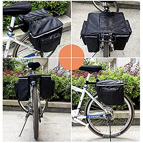 Waterproof Outdoor Bike Rack Rear Rack Seat Saddle Tail Carrier Trunk Bag Storage Pouch Cycling Pannier
