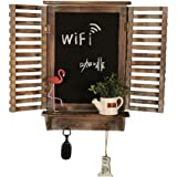 SD&EY Vintage Old Wood Cafe Bar Pared De La Pizarra De La Falsificación Ventana Tablero De Mensajes Decoración De Fondo De Mu