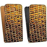 LG L70 Tasche Hülle Flip Case Reptilienhaut Schlangenhaut Leder Look