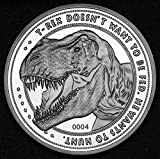 Jurassic Park Collectable Coin 25th Anniversary T-Rex (silver plated) Iron World