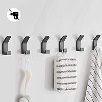 Bogeer Crochets auto-adhésifs, Crochets de serviette de bain, paquet de 6 cintre mural adhésif en acier inoxydable pour…