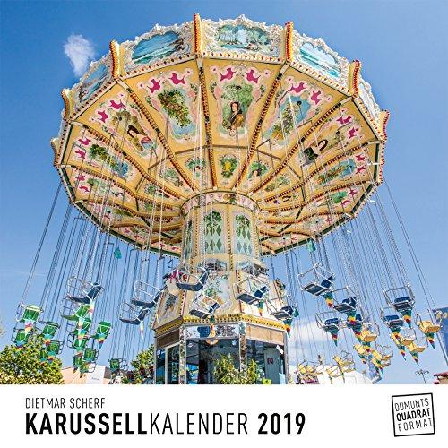 Karussell - Kalender 2019 - DuMont-Verlag - Wandkalender nicht nur für Jahrmarktbesucher - 24 cm x 24 cm