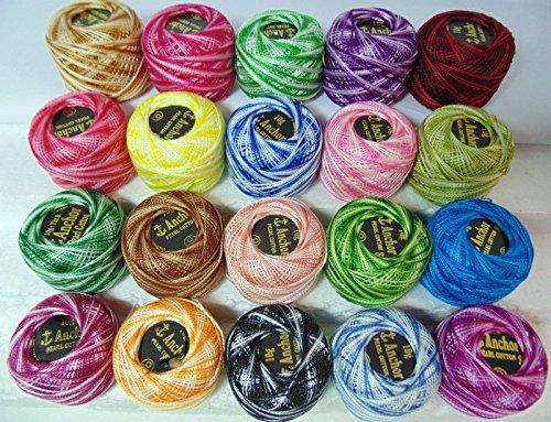 20-fili-di-cotone-variegato-anchor-crochet-balls-20-x-piu-esigenti-diversi-colori