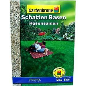 2Kg Schatten Rasensamen Gartenkrone Grassamen Rasen Rasendünger Gras