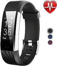Willful Activity Tracker Sport Bracciale Orologio Fitness Tracker Cardiofrequenzimetro da polso Braccialetto Fitness Smart Watch Uomo Donna Impermeabile IP67 Smartwatch Smartband per Android IOS Nero