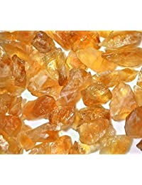 Reiki Crystal Products Natural Citrine/Topaz / Substitute of Pukhraj Raw-Rough Healing Crystal Gemstone 100 Grams