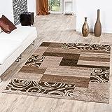 T&T Design Teppich Günstig Patchwork Design Modern Wohnzimmerteppich Beige Creme, Größe:160x220 cm