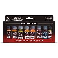 Vallejo Coffret de 8 pots de peinture acrylique Couleurs assorties