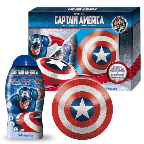 Marvel Beauty Set Geschenkset Captain America, 1er Pack (1 x 600 g)