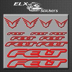 Ecoshirt M9-AIAZ-M2FE Pegatinas Felt Bici R203 Stickers Aufkleber Decals Autocollants Adesivi, Rojo