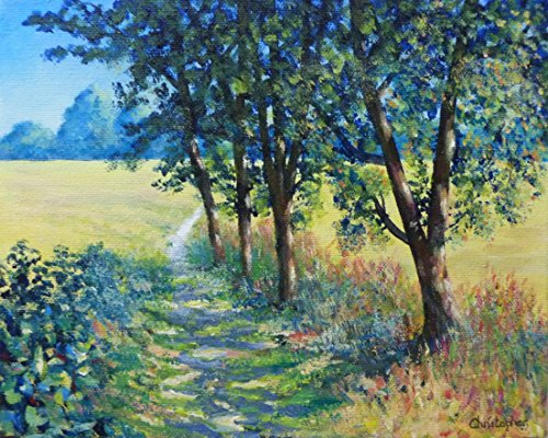 percorso-di-dss-25-x-20-cm-piccolo-paesaggio-pittura-alberi-paesaggio-sole-ombra