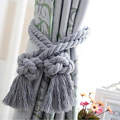 Cuerda de algodón para cortina, estilo chino creativo, artesanal, con borla