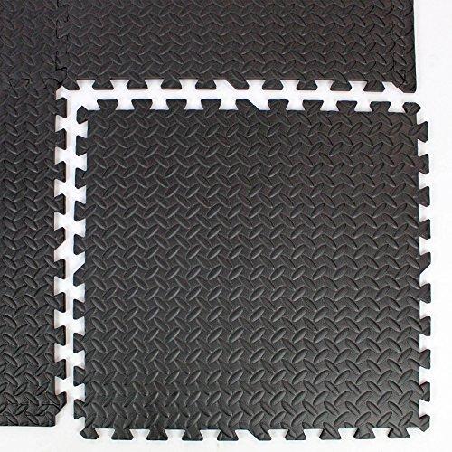 Easimat Revêtement de sol anti-usure pour gymnase ou garage Panneaux à emboîter 9 m²