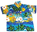 Happy Hawaiian Hut Hawaiian Shirt Beach Boys Girls Kids Childs All Ages & Colours Blue XL