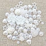 80 Mix White Shabby Chic Resin Flatbacks Craft Cardmaking Embellishments