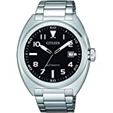 CITIZEN Mens Mechanical Watch, Analog Display and Stainless Steel Strap - NJ0100-89E