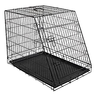 Kerbl Slanted Front Dog Cage Collapsible 2 Doors, 92 x 63 x 74 cm, Black 9