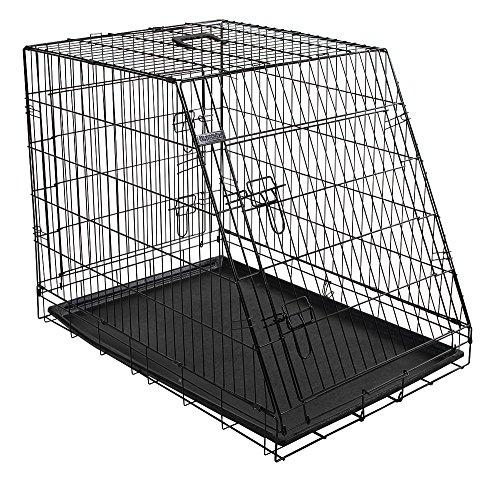 Kerbl 81368 Gittertransportbox, klappbar, 92 x 63 x 74 cm, 2 Türen, schwarz