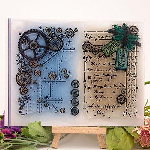 FURU Hoja Sello De Silicona Sello Claro DIY Scrapbooking Relieve /Álbum De Fotos Tarjeta De Papel Decorativo Craft