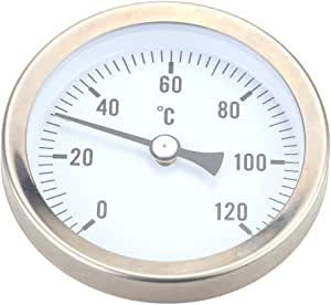 Bi Metall Thermometer Clip Anlegethermometer Thermometer Bimetall 0 Bis 120 C Baumarkt
