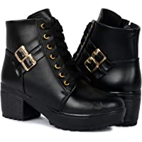 Creattoes Women Fashion Casual Boot High Ankle Heel for Girls Boot