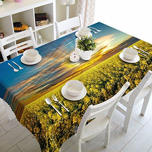 Preisvergleich Produktbild SAEJJ-Vergewaltigung Blume Staubdichten Nacht Tischdecken 3D - Umweltschutz Geschmacklosen Tischdecken Polster178Cmx178Cm