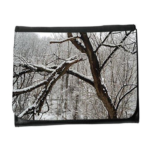 Portemonnaie Geldbörse Brieftasche // M00311590 Woods Snow White Kälte Natur Baum // Small Size (Geldbörse White Snow)