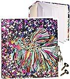 alles-meine.de GmbH Notizbuch / Tagebuch / Poesiealbum - mit Schloss -  Fisch & Koi Karpfen - Design Turnowsky  - 2 Schlüssel - blanko weiß - 3-D Effekt Relief & Glanz Druck - ..