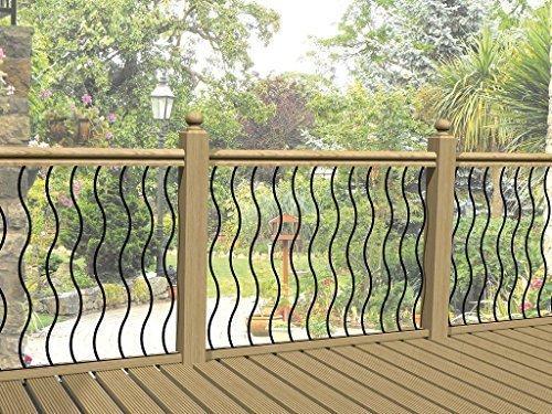 4er Packung Wellig Metall Deck Verkleidung Wellig Schiene Infill Barren Stahl Deck Zaun - Infill-panel