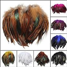 Bluelover 100pz moda Rooster soffice piuma arte DIY 6-8-Brown