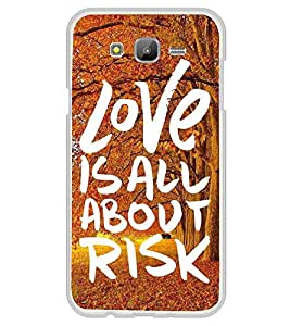 Fiobs Designer Back Case Cover for Samsung On7 (2016) New Edition For 2017 :: Samsung Galaxy On 5 (2017) (Love Is All About Risk Mobile Case Cover )