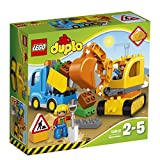 #8: Lego Truck and Tracked Excavator, Multi Color