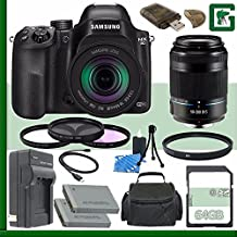 Samsung NX30 Mirrorless Digital Camera With 18-55mm F/3.5-5.6 OIS Lens + Samsung 50-200mm F/4.0-5.6 ED OIS II Lens (Black) + 64GB Green's Camera Bundle 4