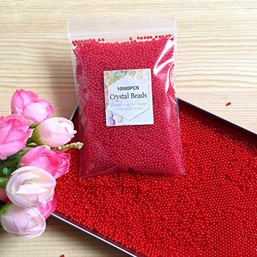 J&J Lot de 10 000 Perles d'eau Gel de 45 à 50 g de différentes Couleurs pour décoration de...