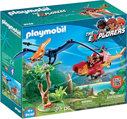 PLAYMOBIL-9430 Helicóptero con Pterosaurio