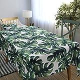 Pastoral Tropische Blätter Tischdecke Baumwolle Restaurant Tuch Brautkleid Tisch Tischdecke 140x220cm 55x87 Zoll