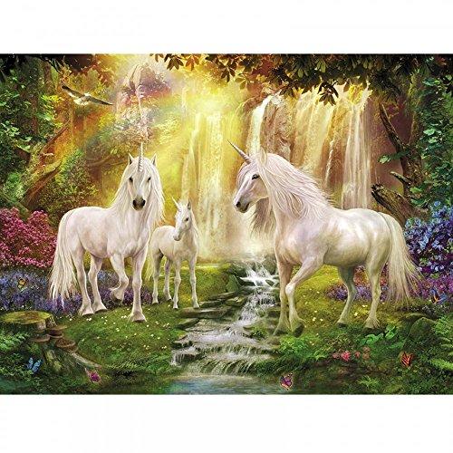 Plaid crée Peinture par numéro kit (16 par 50,8 cm), 22060 Waterfall Glade Unicorns